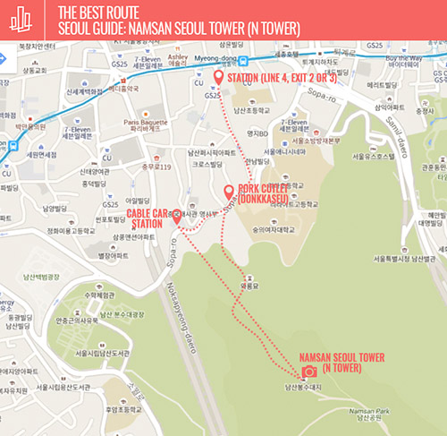 Namsan Seoul Tower (N Tower) Guide Map